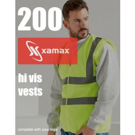 200 Hi Vis Vests & 1 Colour Print