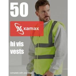 50 Hi Vis Vests & 1 Colour Print