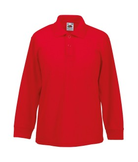 Fruit of the Loom Boys Polo Shirt red red 3-4 Years