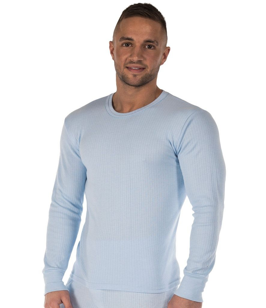 Blue REGATTA HARDWEAR Men/'s Thermal Long Sleeve VEST White or Denim Coloured