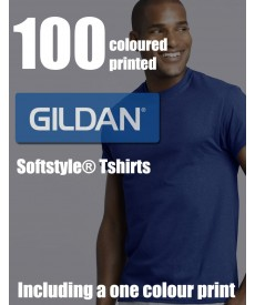 100 Coloured Gildan Softstyle® Adult Printed Tshirts