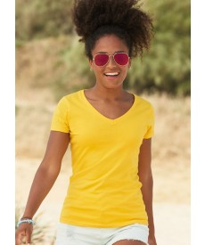 Fruit Of The Loom Lady-Fit Valueweight V-Neck T-Shirt
