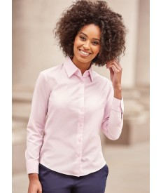Russell Collection Ladies' Long Sleeve Easy Care Oxford Shirt