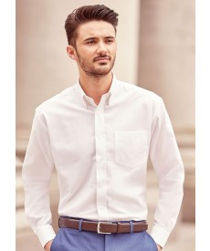 Russell Collection Men's Long Sleeve Easy Care Oxford Shirt