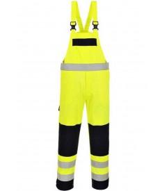 Portwest Bizflame Hi-Vis Multi-Norm Bib and Brace Overall