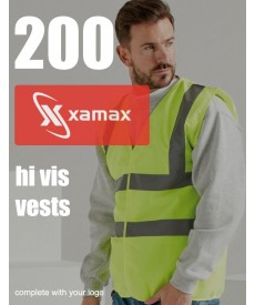 200 Hi Vis Vests & 1 Colour Print
