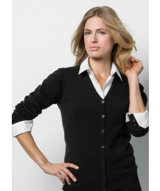 Kustom Kit Ladies' Arundel Long Sleeve V-Neck Cardigan