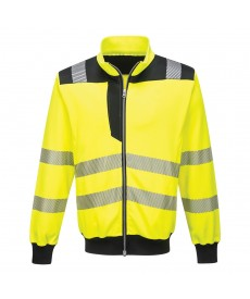 Portwest PW3 Hi Vis Zipped Sweatshirt