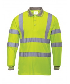 Portwest Hi-Vis Long Sleeved Polo