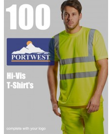 100 Portwest Hi-Vis T-Shirts