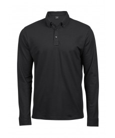 Tee Jays Mens Long Sleeve Fashion Luxury Stretch Polo