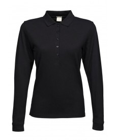 Tee Jays Ladies Luxury Stretch Long Sleeve Polo