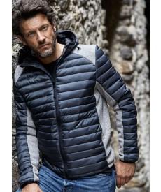 Tee Jays Mens Hooded Aspen Crossover Jacket