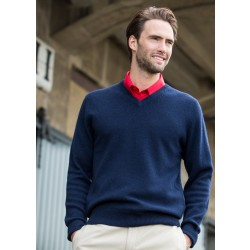 Image of Henbury Lambswool V Neck Sweater