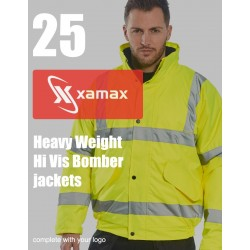 25 Heavy Weight Hi Vis Bombers & 1 Colour Print
