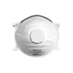 Image of Portwest FFP3 Valved Dolomite Light Cup Respirator (10 Per Box)