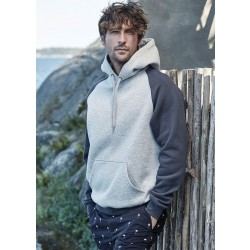 Photo of a Two-tone Hoodie with Raglan Sleeves and Kangaroo pocket by Tee Jays