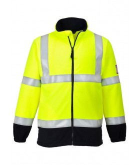Portwest Flame Resistant Anti-Static Hi-Vis Fleece
