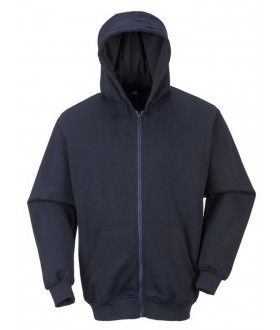 Portwest Flame Resistant Zip Front Hooded Sweatshirt