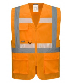 Portwest Glowtex Ezee Zip Executive Vest