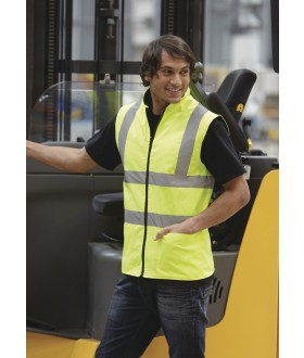 Yoko Hi-Vis Reversible Fleece Vest/Bodywarmer