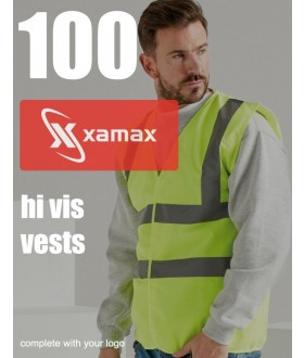 100 Hi Vis Vests & 1 Colour Print