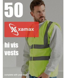 50 Hi Vis Vests & 1 Colour Print