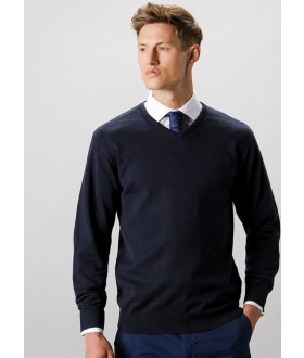 Kustom Kit Men's Arundel Long Sleeve V-Neck Sweater