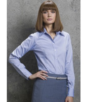Kustom Kit Ladies' Corporate Long Sleeve Oxford Shirt