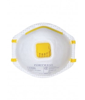 Portwest FFP1 Valved Dust Mist Respirator 10 Per Box