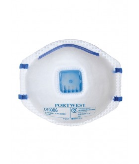 Portwest FFP2 Valved Dust Mist Respirator 10 Per Box