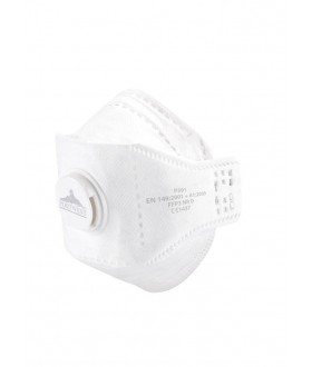 Portwest Eagle FFP3 Valved Dolomite Fold Respirator (10 Per Box)
