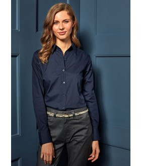 Premier Ladies Long Sleeve Poplin Blouse
