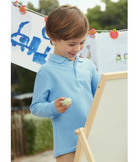 Fruit of the Loom Kids Long Sleeve Poly/Cotton Pique Polo Shirt