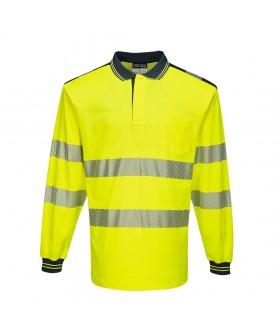 Portwest PW3 Hi-Vis Long-Sleeved Polo Shirt