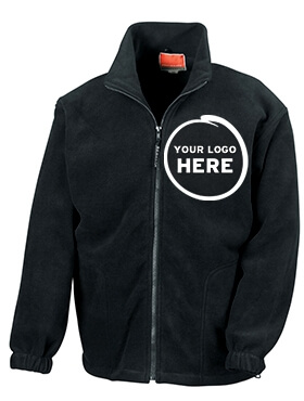 Customised Embroidered Fleece in Black