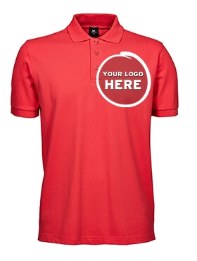 Red Polo Shirt with Custom Embroidery