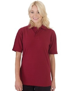 Blonde Girl Wearing Polo Shirt