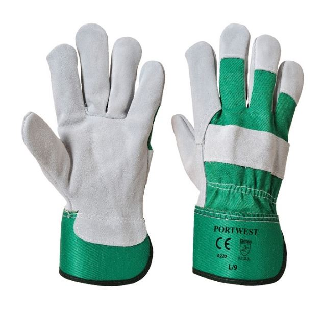 Image of a pair of Portwest Chrome Rigger Gloves