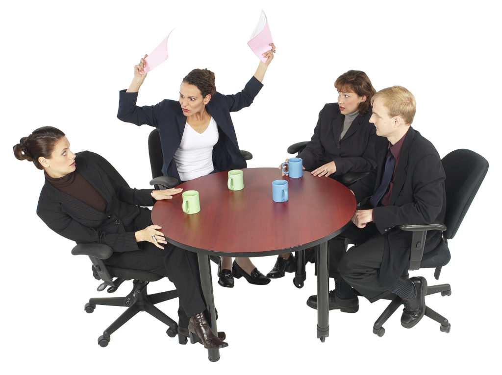 Image of an office meeting