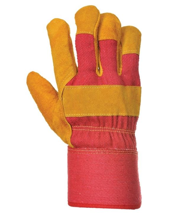 Image of an Insulated Rigger Glove in Red and Brown