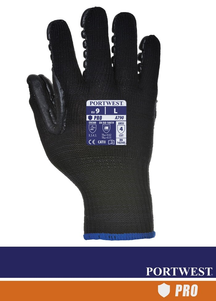 Image shows Portwest anti-vibration glove