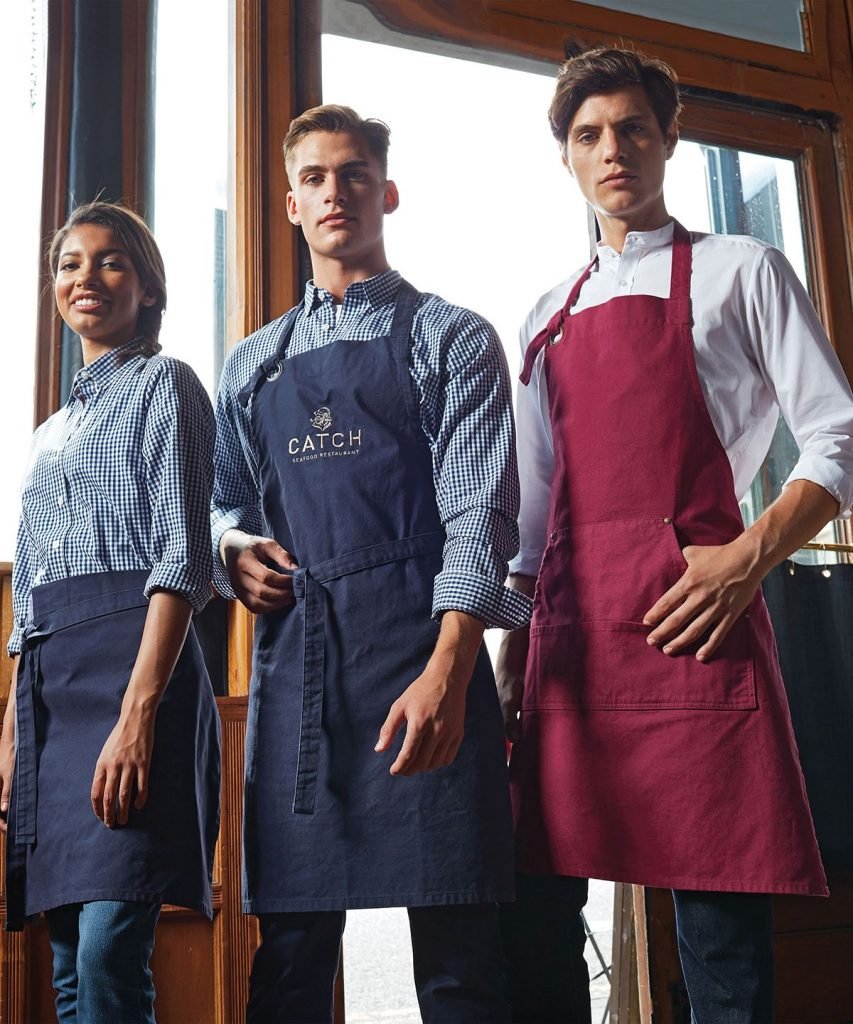 Caterers in uniform