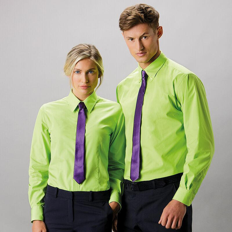 woman and man wearing awful clothes for work
