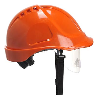 Image shows Portwest Endurance Spec Visor Construction Site PPE Helmet