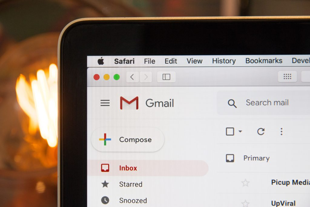 Image shows email on a computer