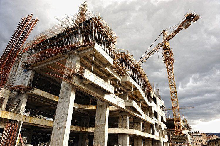 Image shows construction site