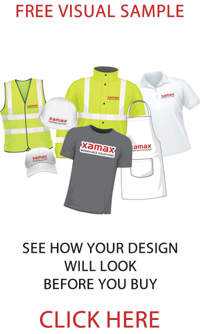 Click here to receive free visual customisation sample from Xamax a workwear supplier