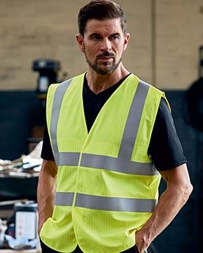 Man wearing a hi vis vest