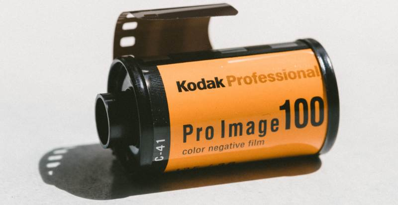 "Image of a Kodak photographic film cartridge to illustrate ""Exposure"""